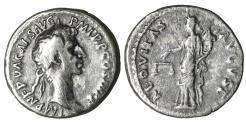Ancient Coins - Nerva 96-98 AD Denarius \ Aequitas  \ XF