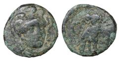 Ancient Coins - TROAS Sigeion Bronze 355-334 BC Bronze Rare VF