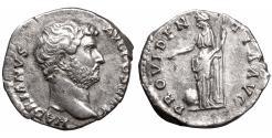 Ancient Coins - Hadrian 133 AD Silver Denarius \ PROVIDENTIA \ aUNC