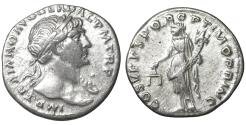 Ancient Coins - Trajan (98-117). AR Denarius. Rome, AD 103-111. aUNC \ Aequitas