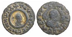 Ancient Coins - Kings of Axum Ouazebas late 4th century Æ17 Rare Gilt VF\XF