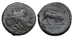Ancient Coins - Seleukid Kingdom Seleukos I Nikator 312-281 BC Bronze aXF