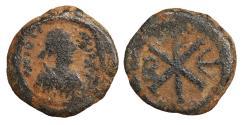 Ancient Coins - JUSTIN I 518-527 Pentanummium Constantinople  VF+
