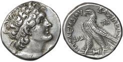 Ancient Coins - PTOLEMAIC KINGS of EGYPT Ptolemy VIII 145-116 BC AR Tetradrachm aUNC \ Greek Coins