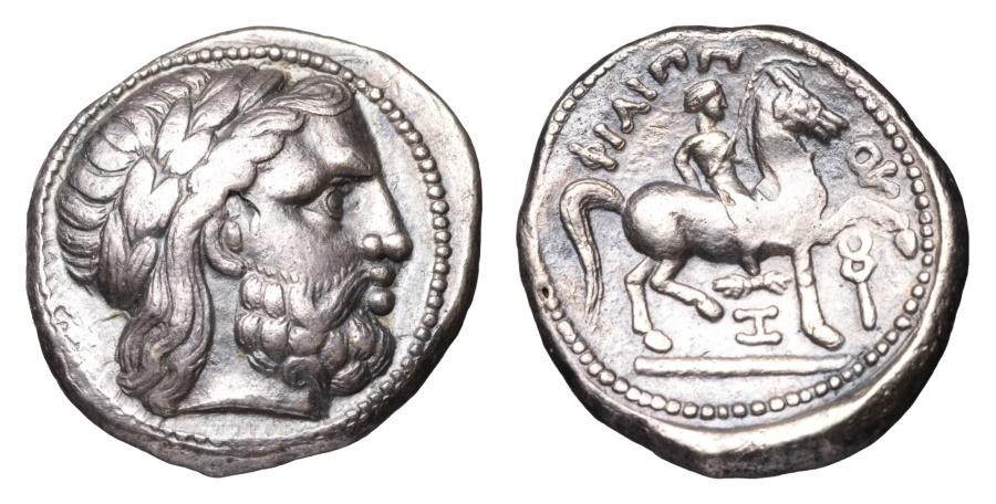 Ancient Coins - MACEDONIA. Philip II. 315-294 BC. AR Tetradrachm. Amphipolis mint