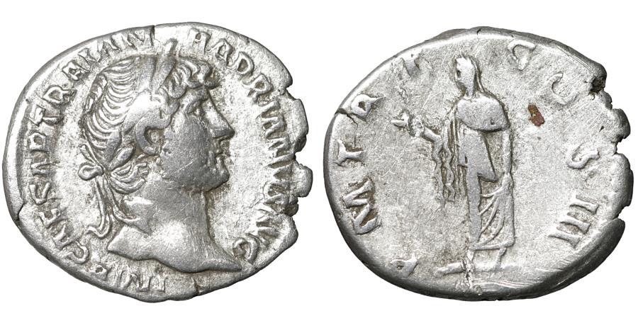 Ancient Coins - Hadrian (AD 117-138). AR denarius. aXF \ Spes
