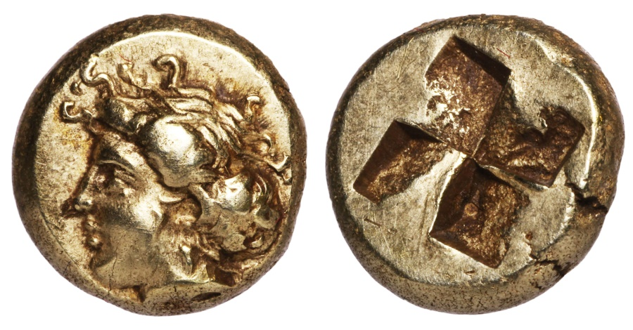 Ancient Coins - PHOKAIA. 400 BC. EL Hekte EXTREMELY FINE PORTRAIT HIGH DETAILS