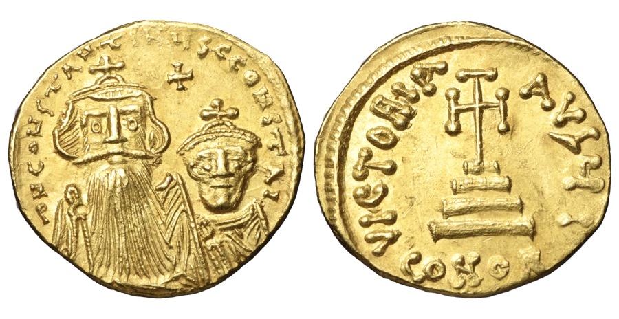 Ancient Coins - CONSTANS II 641-668 AD SOLIDUS