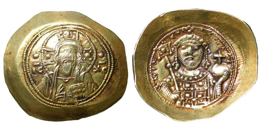 Ancient Coins - Michael VII 1071-1078 Gold Histamenon nomisma UNC