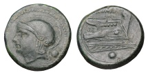 Ancient Coins - Anonymous. AE Uncia, 214-212 BC. Luceria mint EF
