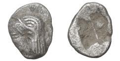 Ancient Coins - Ionia Kolophon circa 520-500 BC Tetartemorion AR Apollo VF+