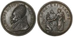 World Coins - Papal States Clemens X 1670-1676 Bronze Medal Year I R2 UNC\MS ROMA RESURGENS