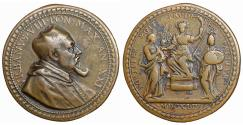 World Coins - Papal States Urbano VIII 1623-1644  Medal 1644 R2 XF\UNC