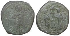 Ancient Coins - Constantine X Ducas and Eudocia AD 1059-1067 Constantinople Follis VF\XF