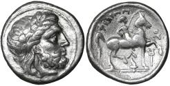 Ancient Coins - Kings of Macedon. Philip II. (359-336 BC). AR Tetradrachm UNC
