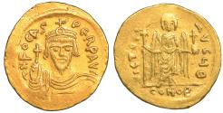 Ancient Coins - Phocas Gold Solidus Constantinople AD 602-610 aUNC