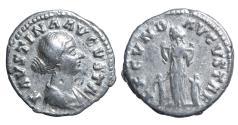 Ancient Coins - FAUSTINA JUNIOR. Denarius 145-175 AD. \ Fecunditas  Roman coin