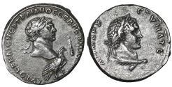 Ancient Coins - Antioch Trajan AD 98-117 Silver Tetradrachm