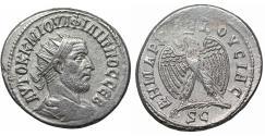 Ancient Coins - Philip I AR Tetradrachm of Antioch Syria Struck AD 244 XF Bust \ Eagle