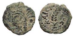 Ancient Coins - JUDAEA PROCURATORS M. AMBIBULUS 9-12 AD PRUTAH VF+