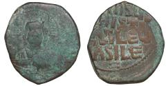 Ancient Coins - Basil II & Constantine VIII 1020-1028 anonymous Follis class A3 AE follis VF\XF