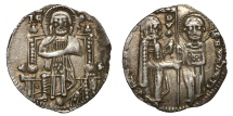 World Coins - REPUBLIC OF VENICE. FRANCESCO DANDOLO. 1329 - 1339 AD. GROSSO.