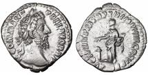 Ancient Coins - Commodus AD 180-192. Rome. Denarius. \ Pietas \ roman coin