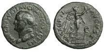 Vespasian. 69-79 AD. AE As. Judaea Capta type. Rare. VF/XF.