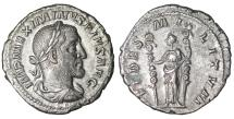 Ancient Coins - Maximinus I Thrax 235-238 AD Denarius Scarce UNC \ Roman coin
