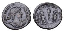 CONSTANTIUS II. 337-361 AD. BRONZE. VF/XF