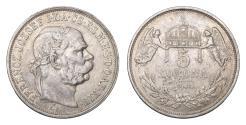 World Coins - Austro-Hungarian. Franz Joseph I°. 5 Korona 1908. VF+