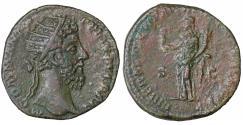 Ancient Coins - Commodus AD 177-192 Æ Dupondius XF Bust \ Liberalitas