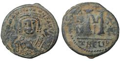 Ancient Coins - Maurice Tiberius 582-602 AD AE Follis VF\XF Byzantine Coin