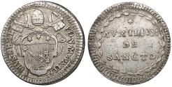 World Coins - Papal States Pius VI 1775-1799 Rome Mint Grosso 1787 XF
