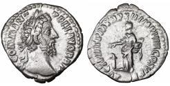 Ancient Coins - Commodus AD 180-192. Rome. Denarius. \ Pietas \ roman coin
