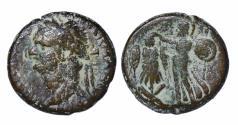 Ancient Coins - JUDAEA CAPTA Domitian struck 83 AD. AE22. VF. RARE.