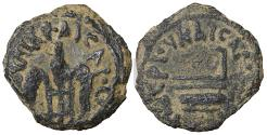 Ancient Coins - Judaea. Pontius Pilate. 26-36 AD. Prutah Well-centered. XF