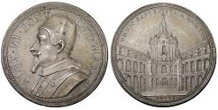 World Coins - Papal States Pope Alexander VII 1655-1667 Silvered medal 1660 Rare XF