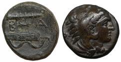 Ancient Coins - Macedon Alexander III the Great 336-323 BC Bronze aUNC