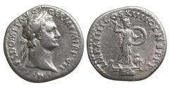 Ancient Coins - Domitian 81-96 Denarius Minerva XF \ Roman Coin Silver