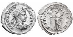 Ancient Coins - Elagabalus. 218-222 AD. AR Denarius. AD 219 \ aUNC \ roman coin