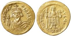 Ancient Coins - Phocas Gold solidus Constantinople, 10th officina, AD 607-609 XF