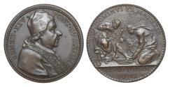 World Coins - Italy Papal States Benedict XIV 1740-1758 Bronze Medal 1752  Washing of the Feet Rare UNC