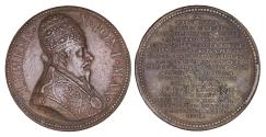World Coins - Papal States Clement X 1670-1676 Commemorative Medal 1700/1710  R2 aUNC