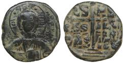 Ancient Coins - Anonymous attributed to Romanus III 1028-1034 AE follis Class B XF