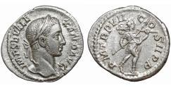 Ancient Coins - SEVERUS ALEXANDER 222-235 AD Denarius Sharply struck XF+