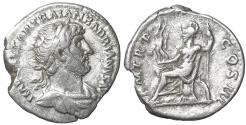 Ancient Coins - Hadrian 117-138 AD. Denarius Roma  VF\XF
