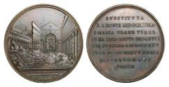 World Coins - Papal States Leo XII 1823-1829 Bronze Medal 1825 Rare Mint State