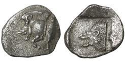 Ancient Coins - MYSIA. Cyzicus. 480-400 BC. AR Diobol. XF
