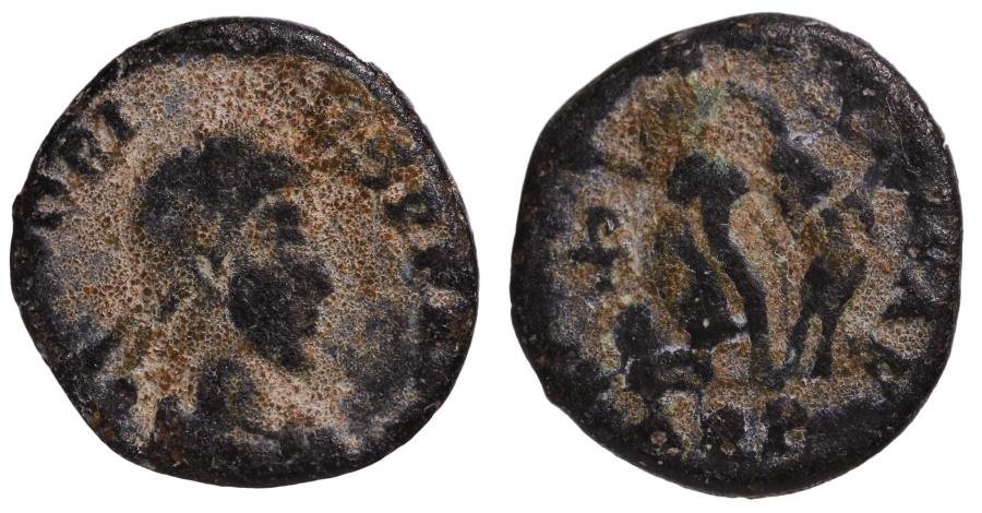 Ancient Coins - Honorius, AE4, 395-401 AD. Aquileia mint.  Mintmark AQP